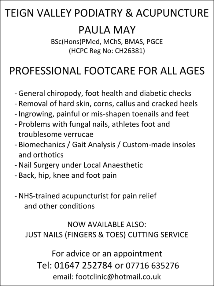 Teign Valley Podiatry and Acupuncture