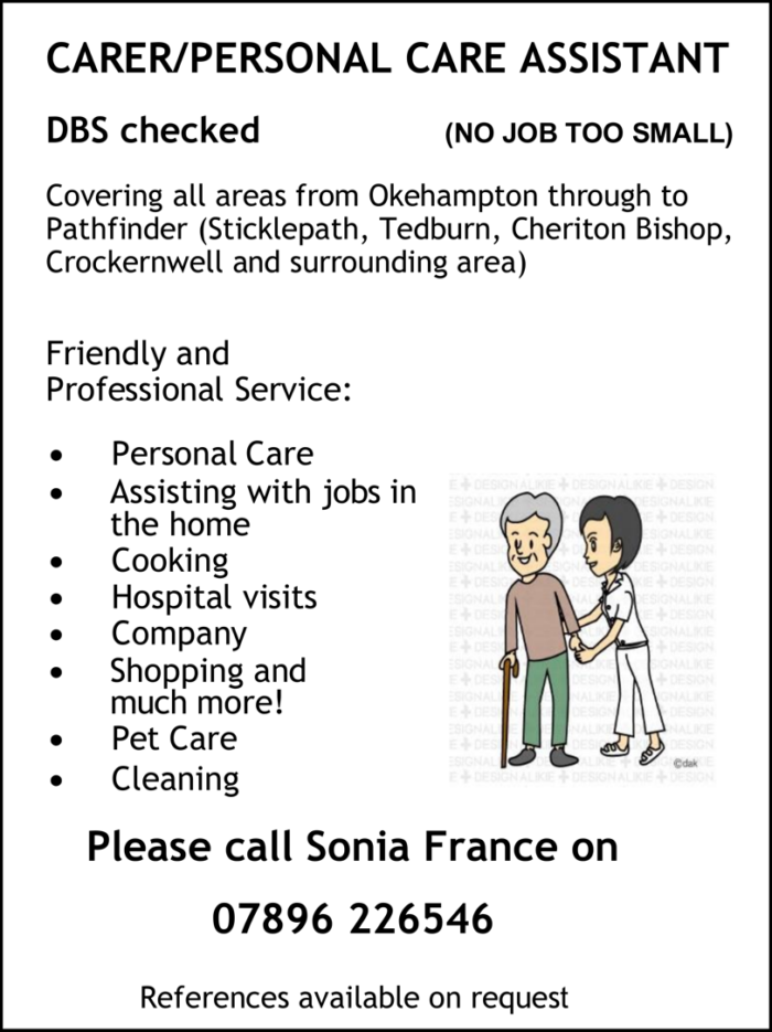 Sonia France – Carer/Personal Care Assistant